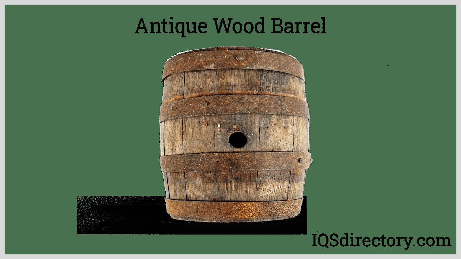 Antique Wood Barrel
