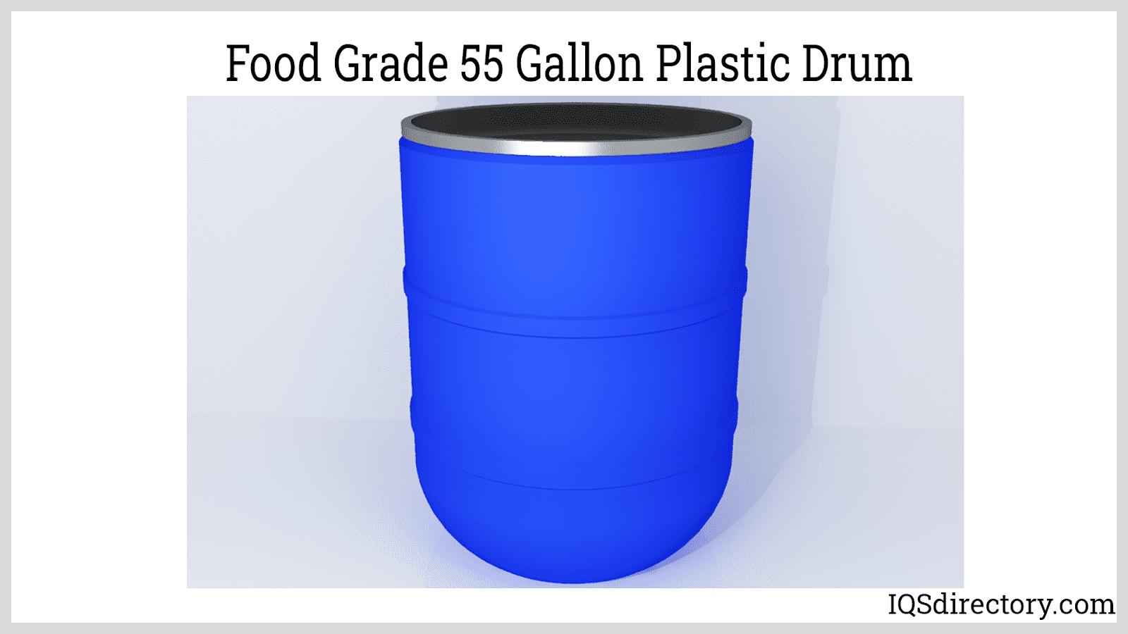 Food Grade 55 Gallon Plastic Drum