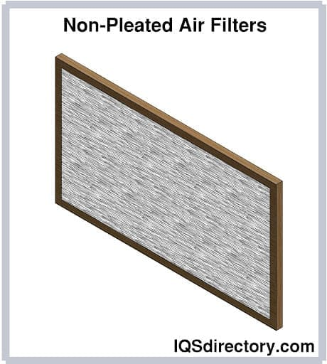 Non-Pleated Air Filters
