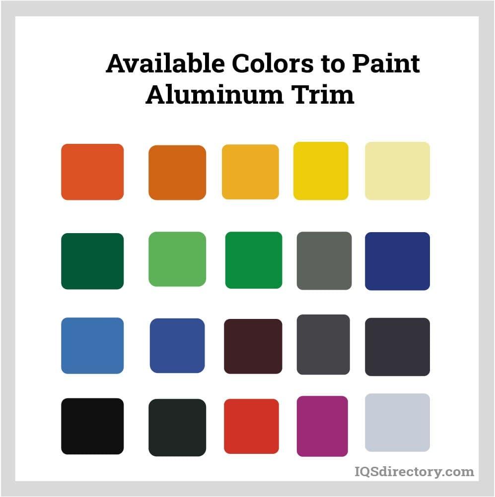 Available Colors to Paint Aluminum Trim