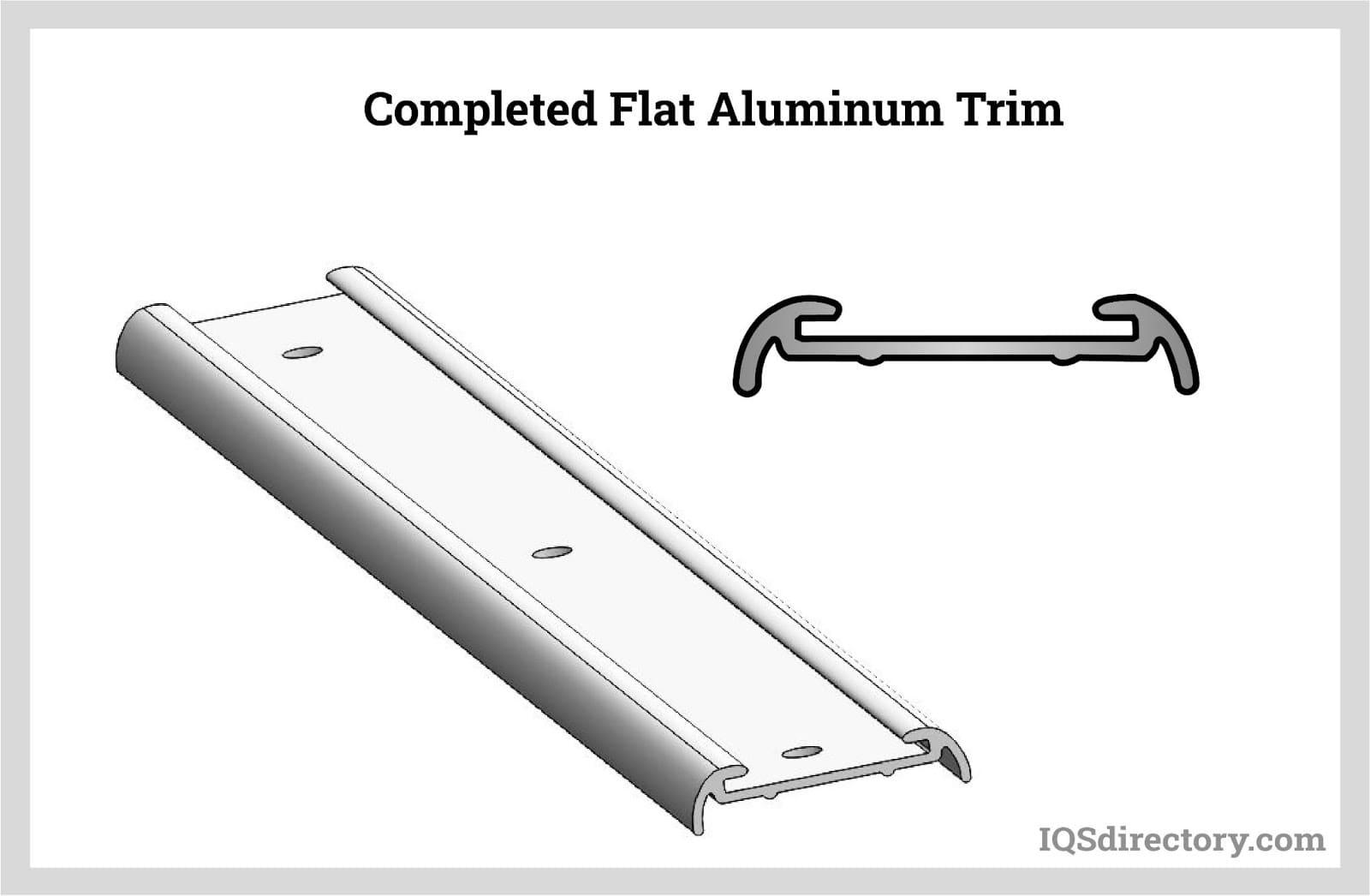 Completed Flat Aluminum Trim
