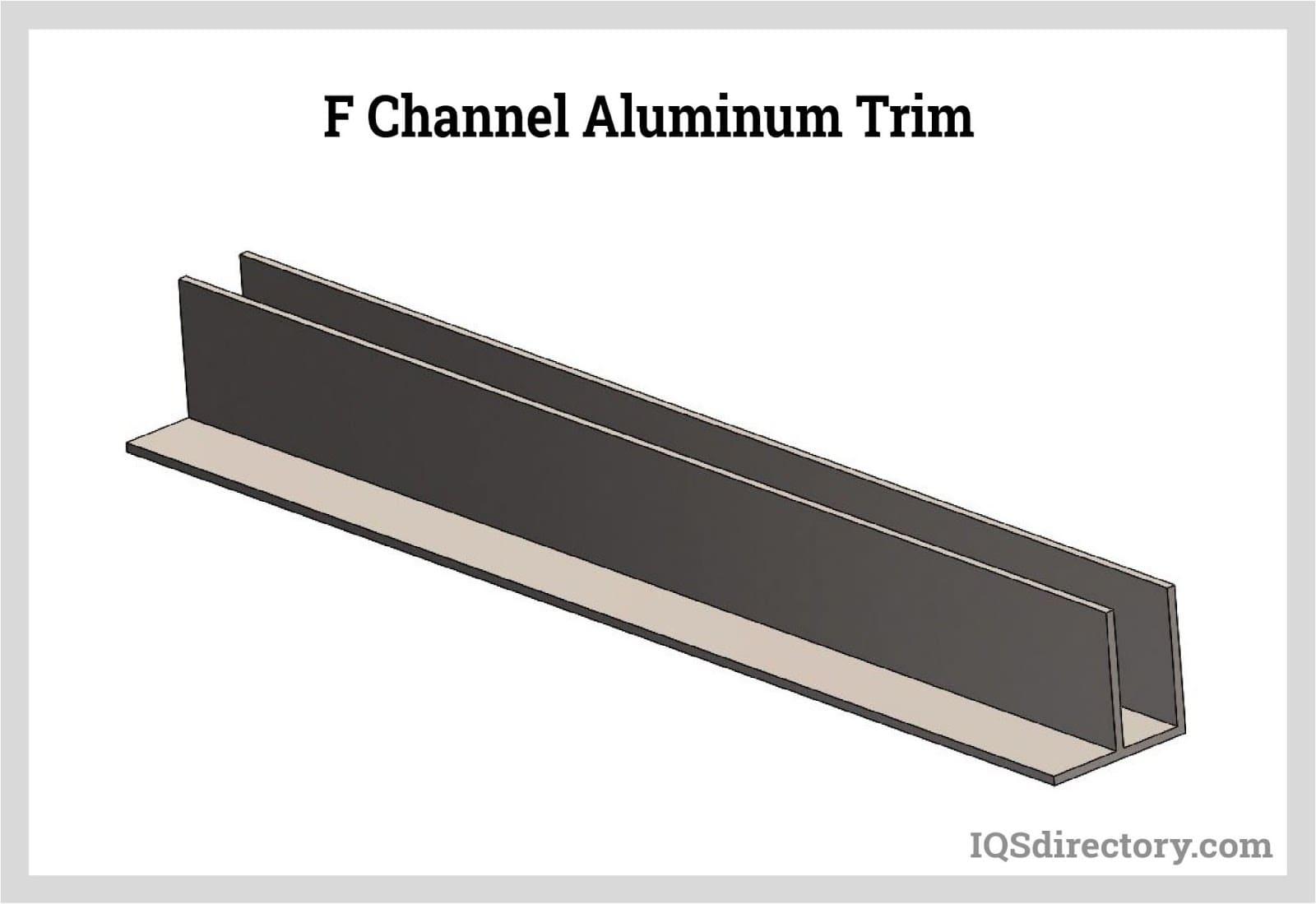F Channel Aluminum Trim