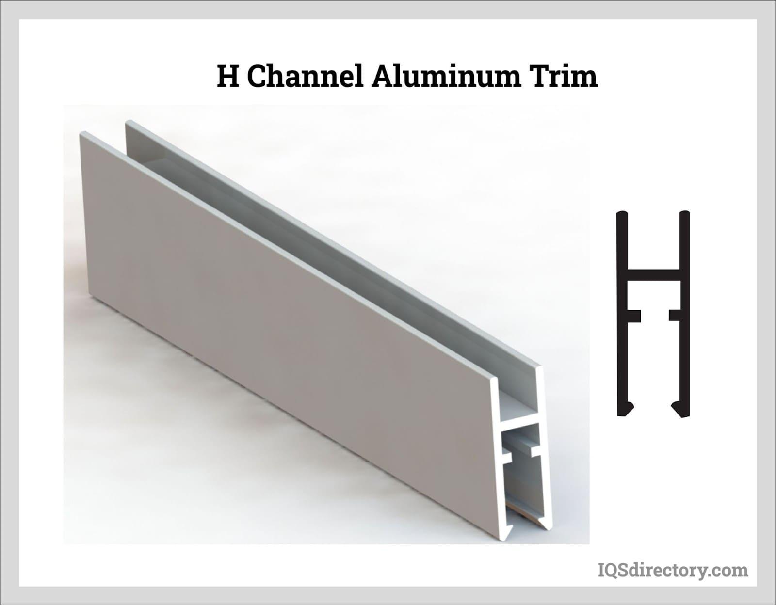 H Channel Aluminum Trim