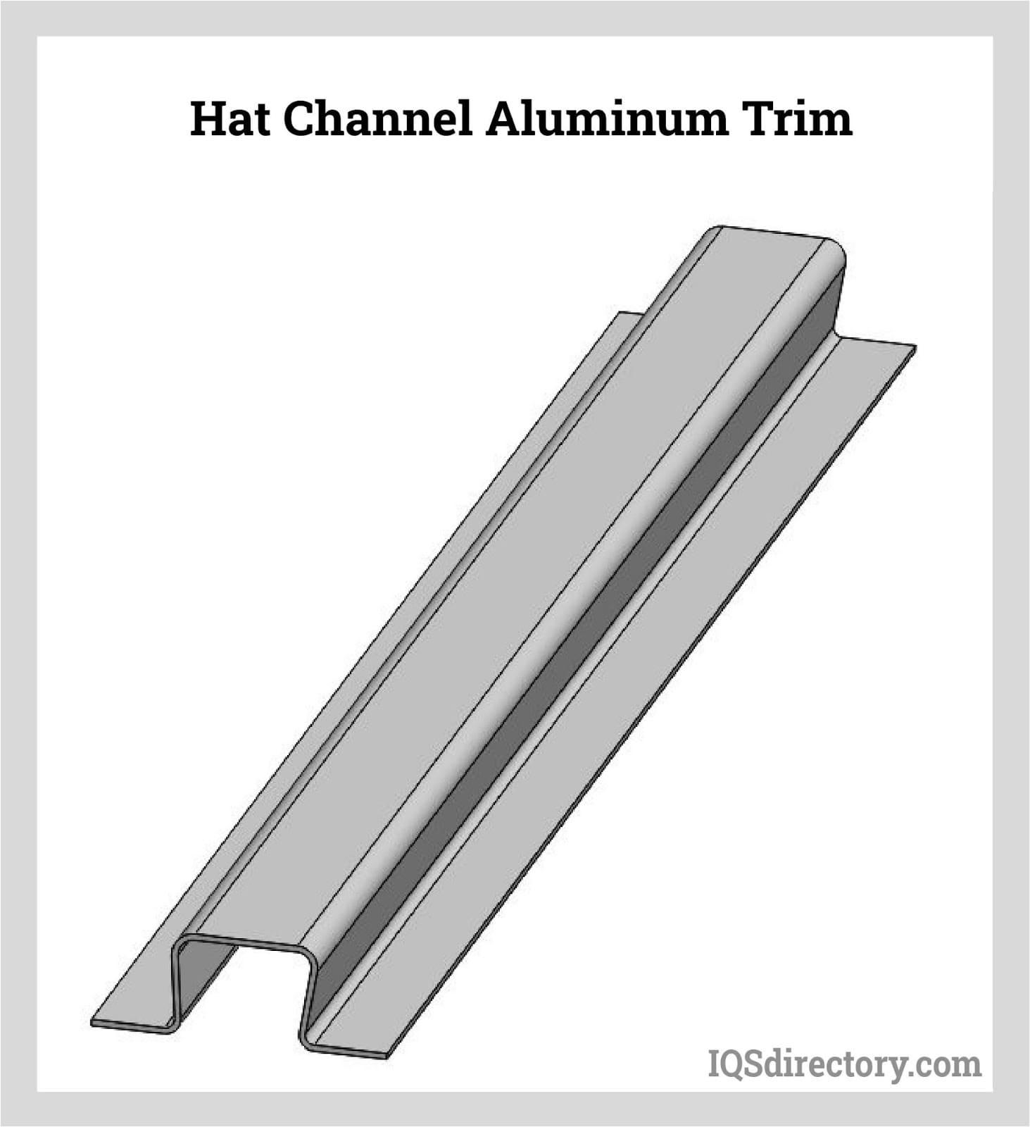 Hat Channel Aluminum Trim