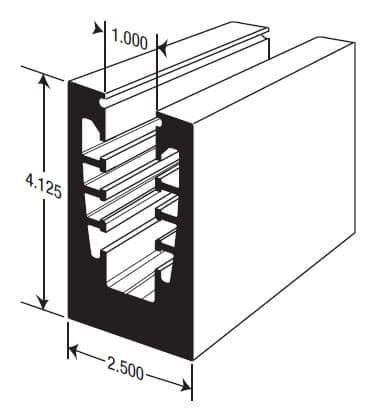 Glass Wall Rail Cross-section