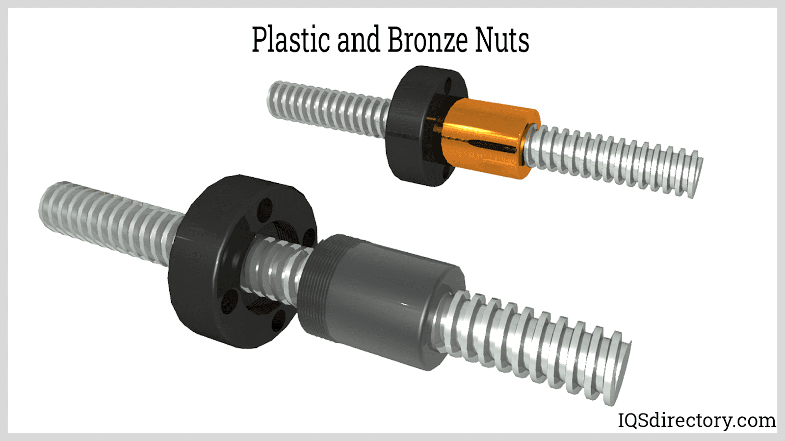 Plastic and Bronze Nuts