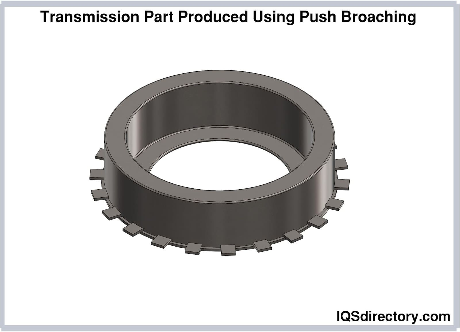 Transmission Part Produced Using Push Broaching