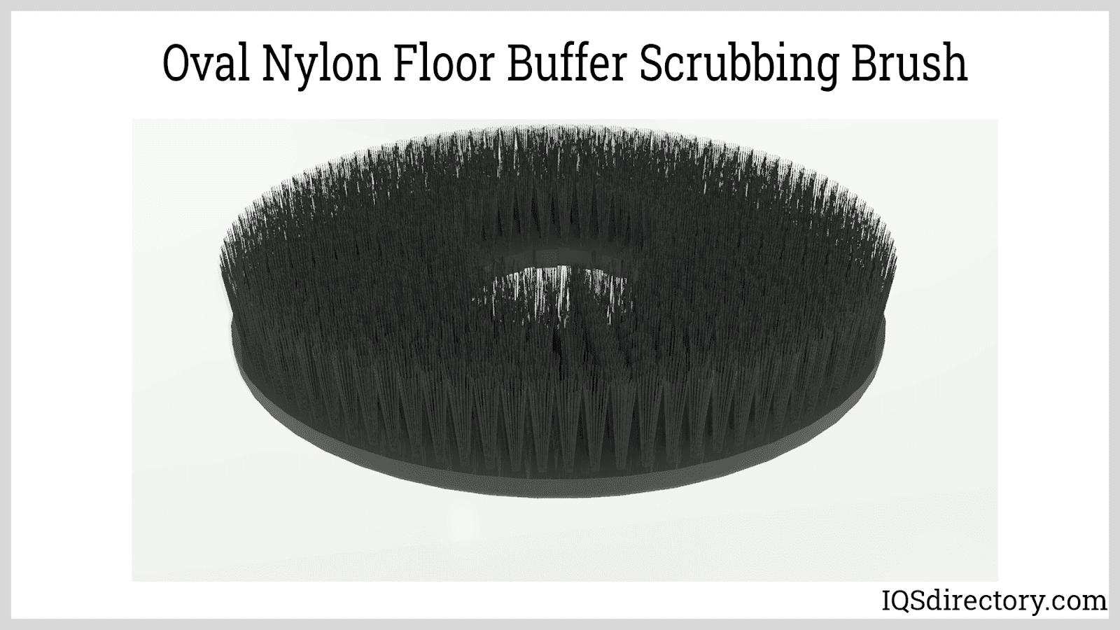 Oval Nylon Floor Buffer Scrubbing Brush