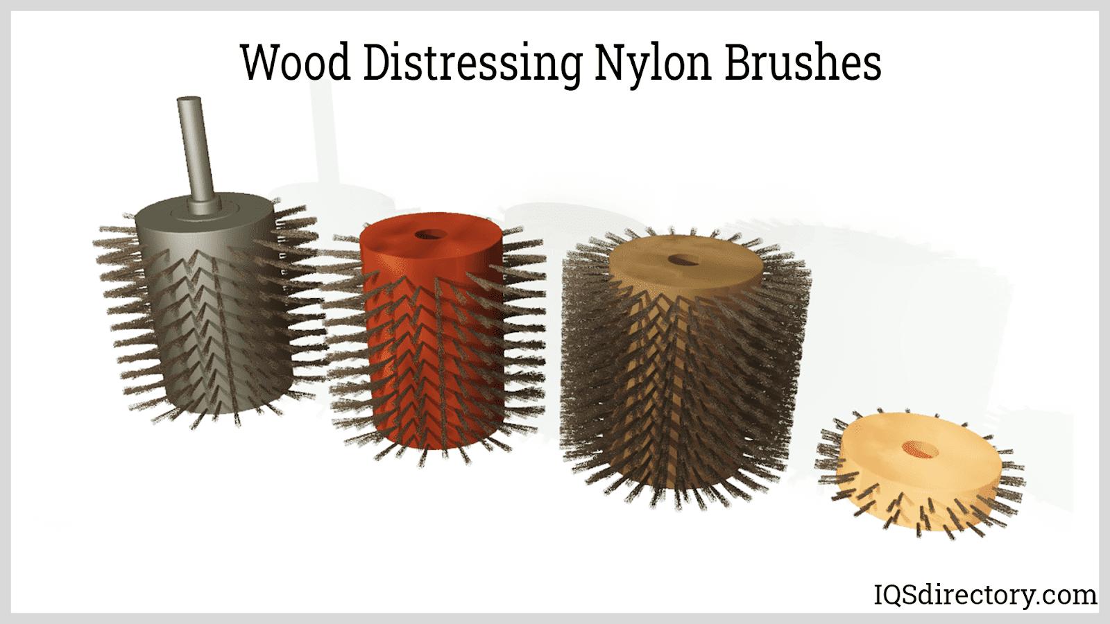 Wood Distressing Nylon Brushes