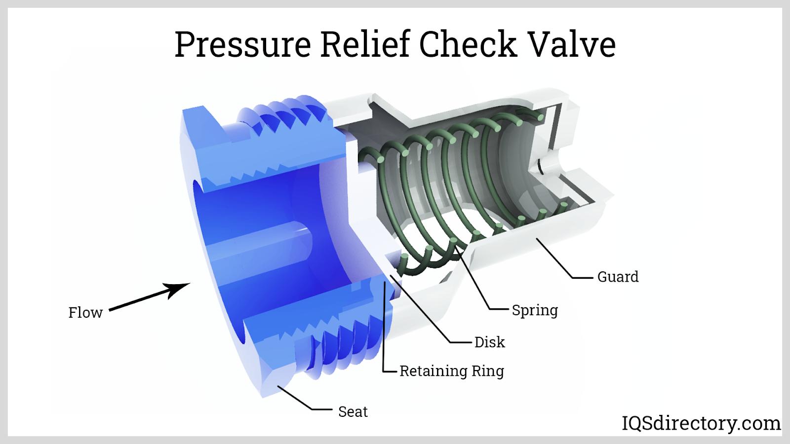 Pressure Relief Check Valve