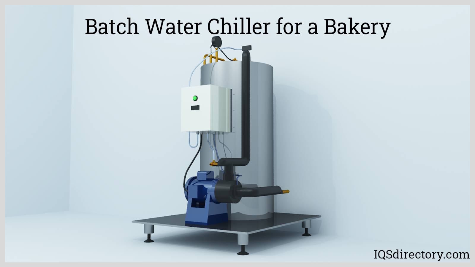 Batch Water Chiller for a Bakery
