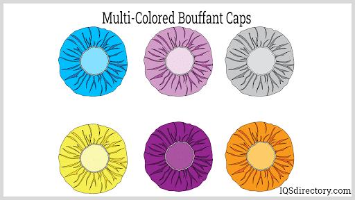 Multi-Colored Bouffant Caps