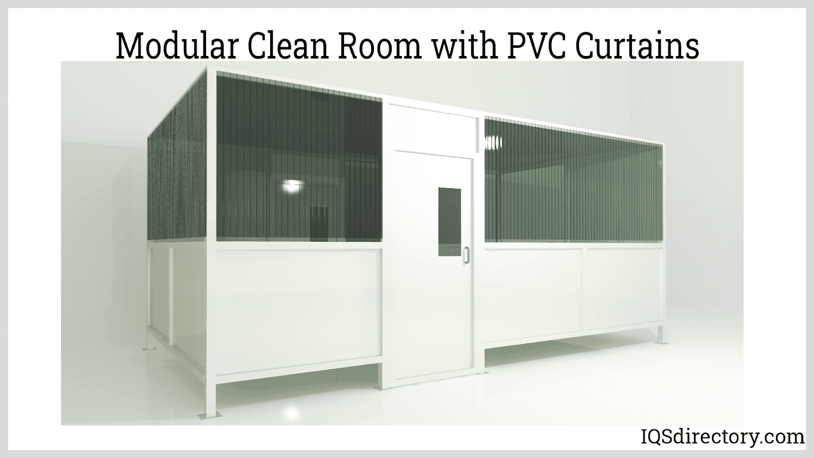 Modular Clean Room with PVC Curtains