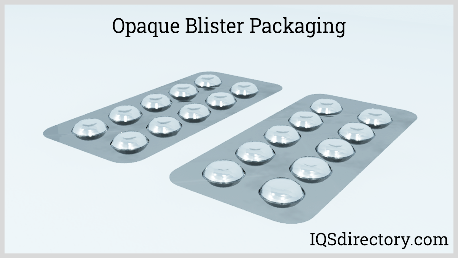 Opaque Blister Packaging