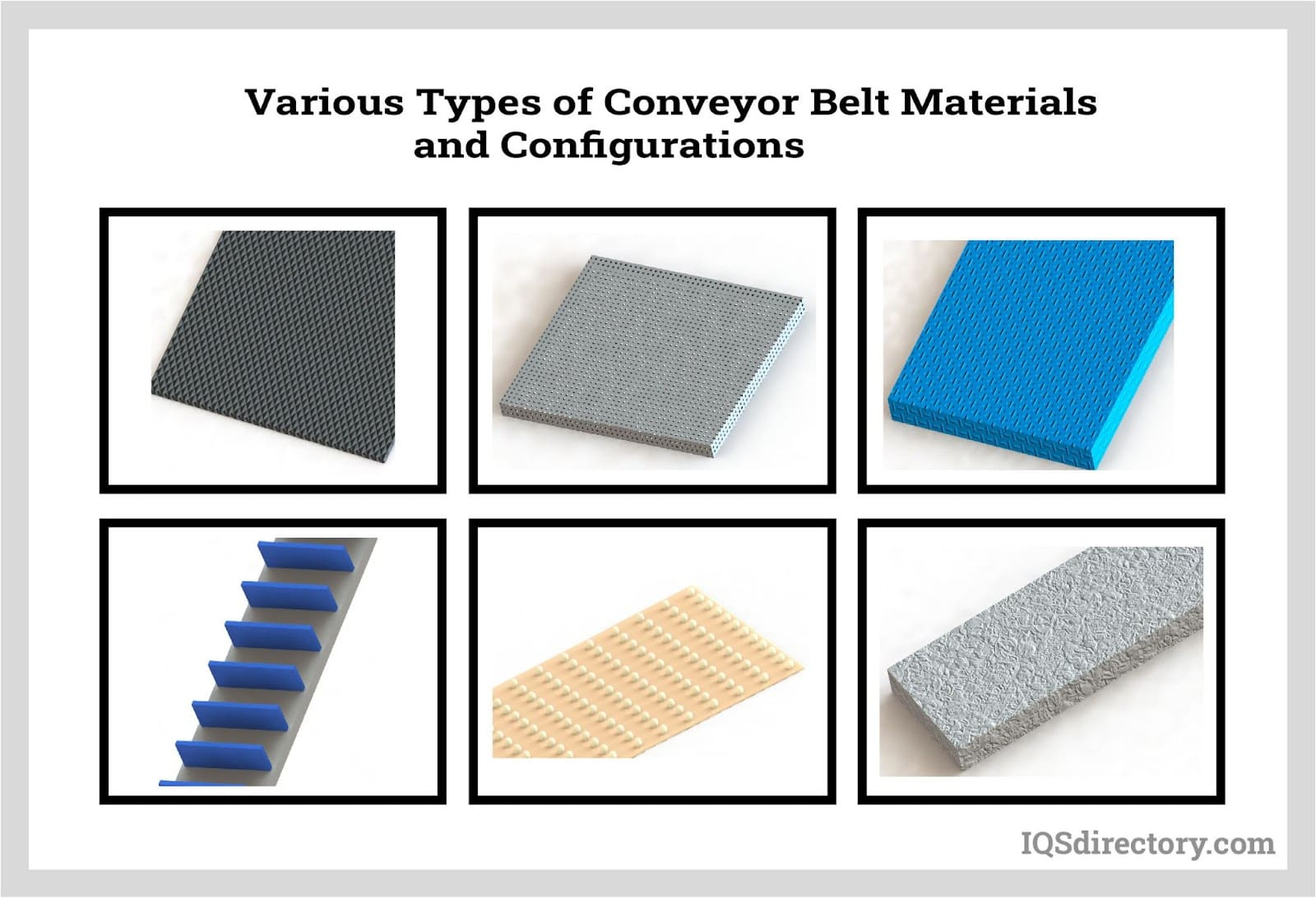 Various Types of Conveyor Belt Materials and Configurations