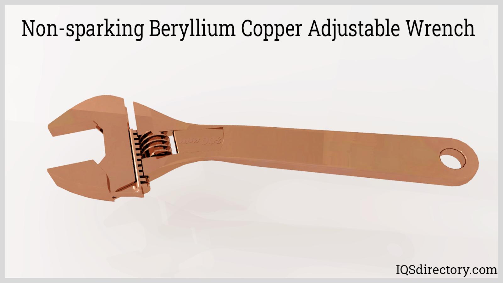 Non-sparking Beryllium Copper Adjustable Wrench