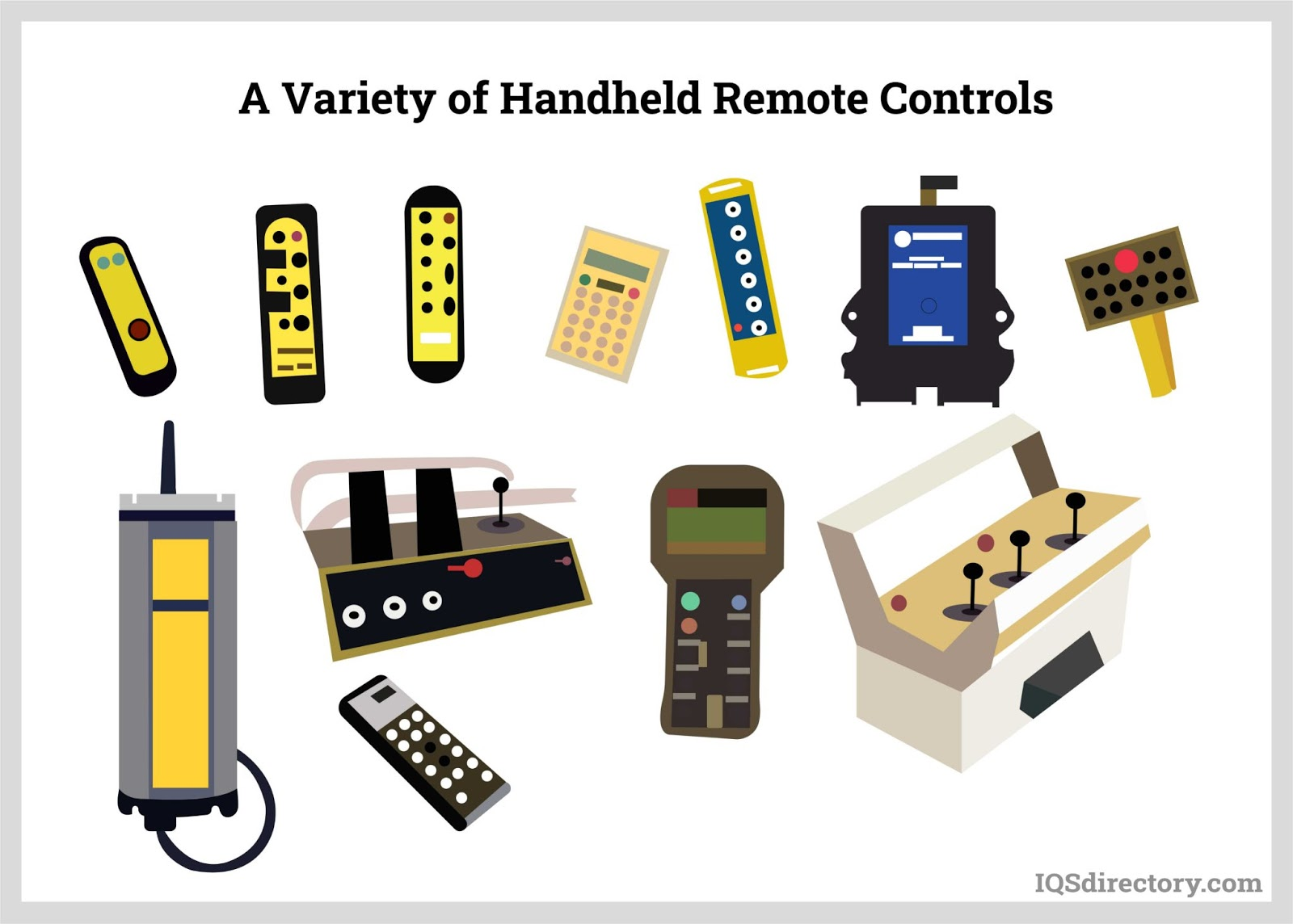 A Variety of Handheld Remote Controls