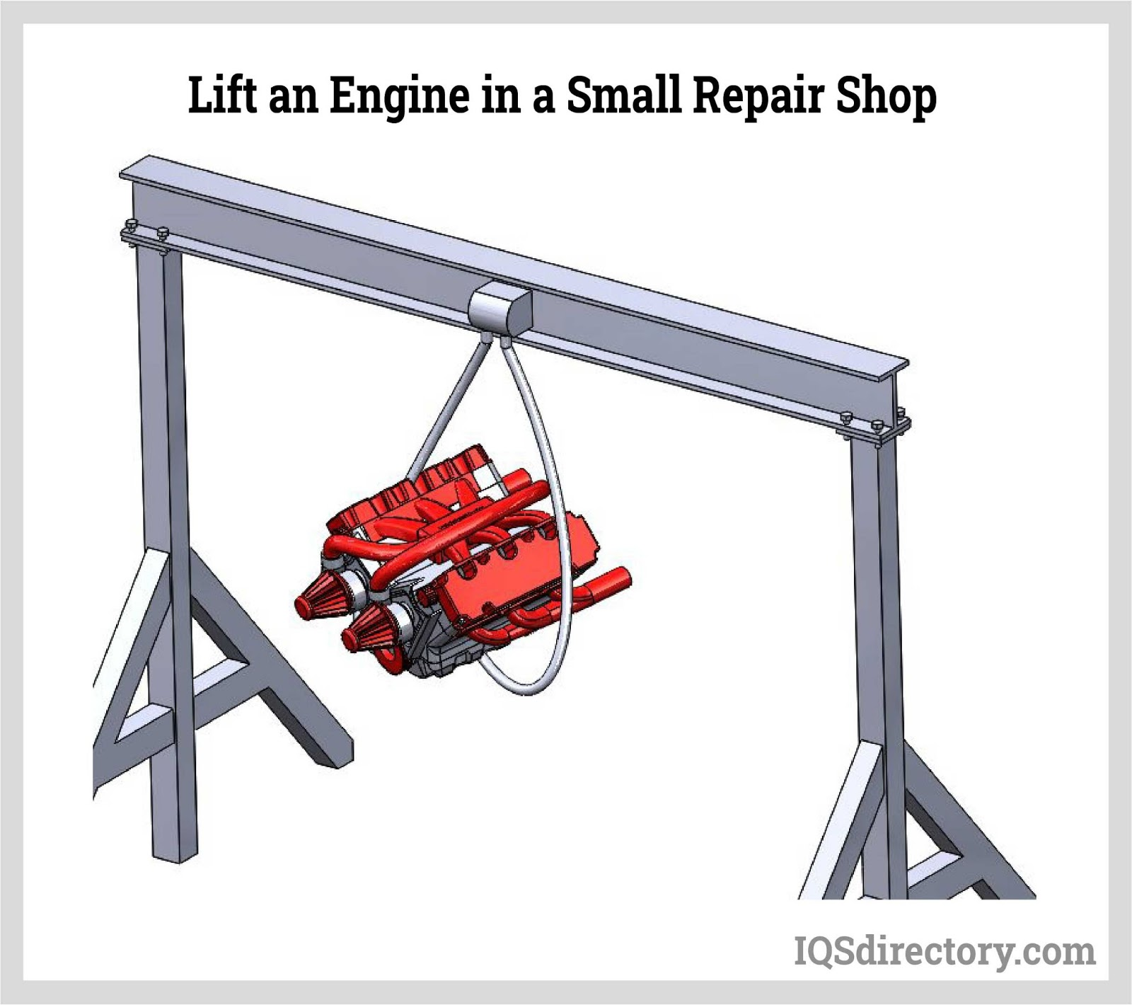 Lift an Engine in a Small Repair Shop