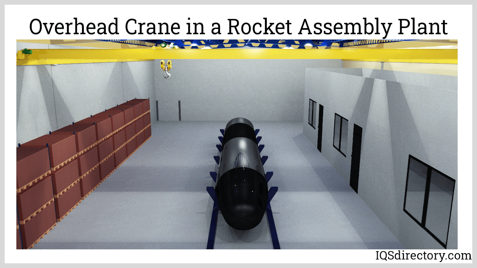 Overhead Crane in a Rocket Assembly Plant