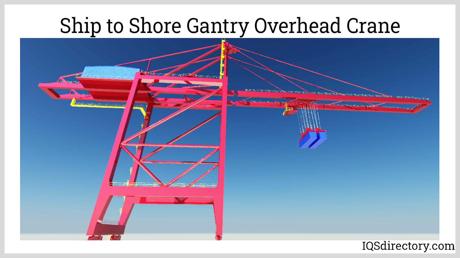 Ship to Shore Gantry Overhead Crane