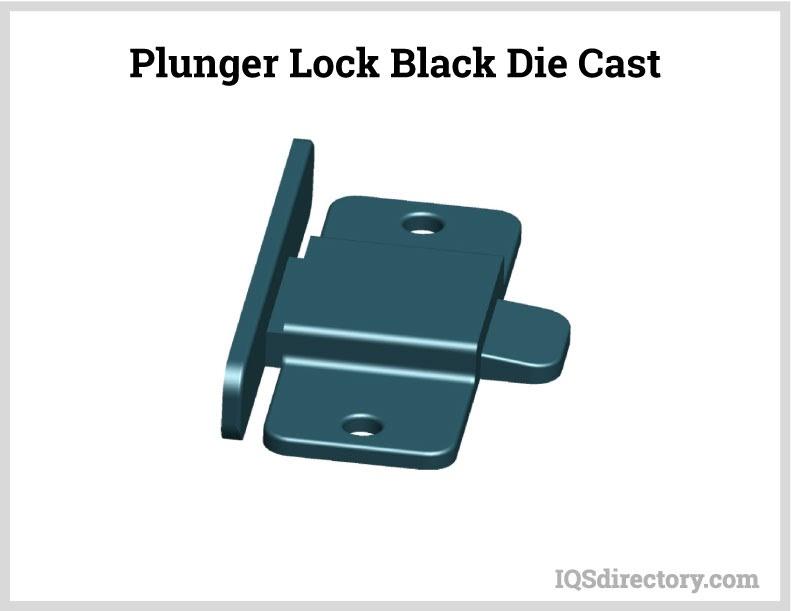 Plunger Lock Black Die Cast