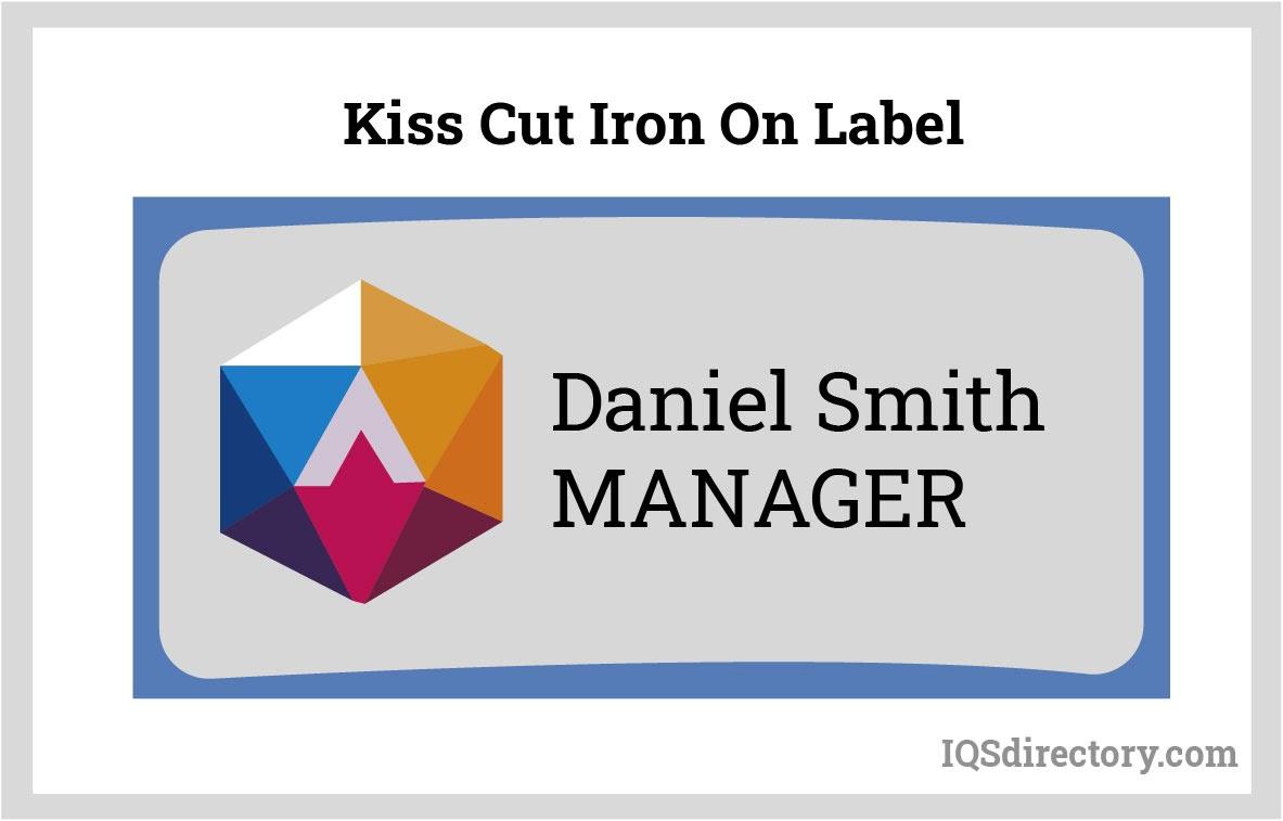 Kiss Cut Iron On Label