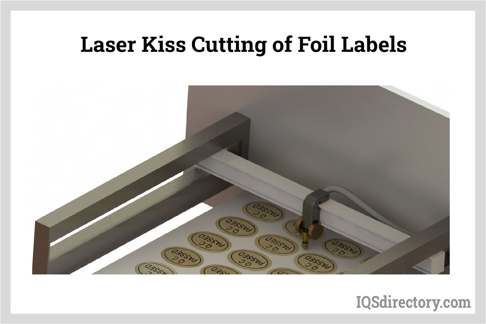 Laser Kiss Cutting of Foil Labels