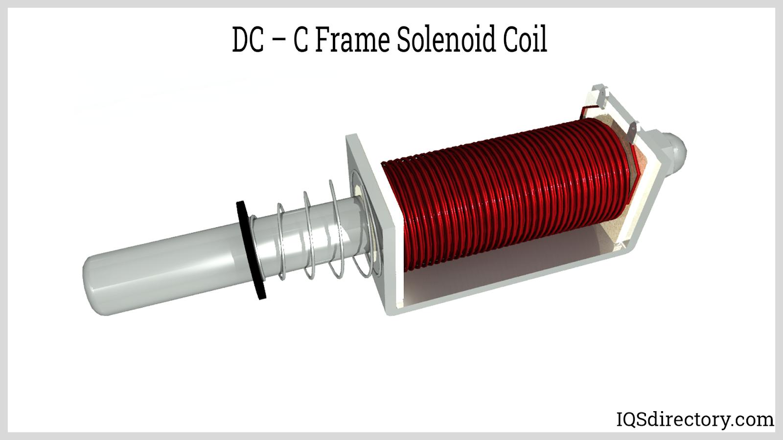 DC  C Frame Solenoid Coil