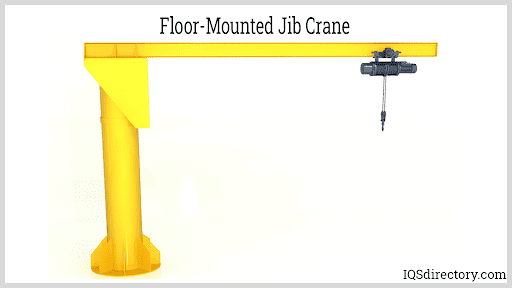 Floor-Mounted Jib Crane