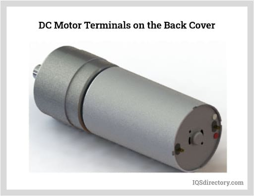 DC Motor Terminals on the Back Cover