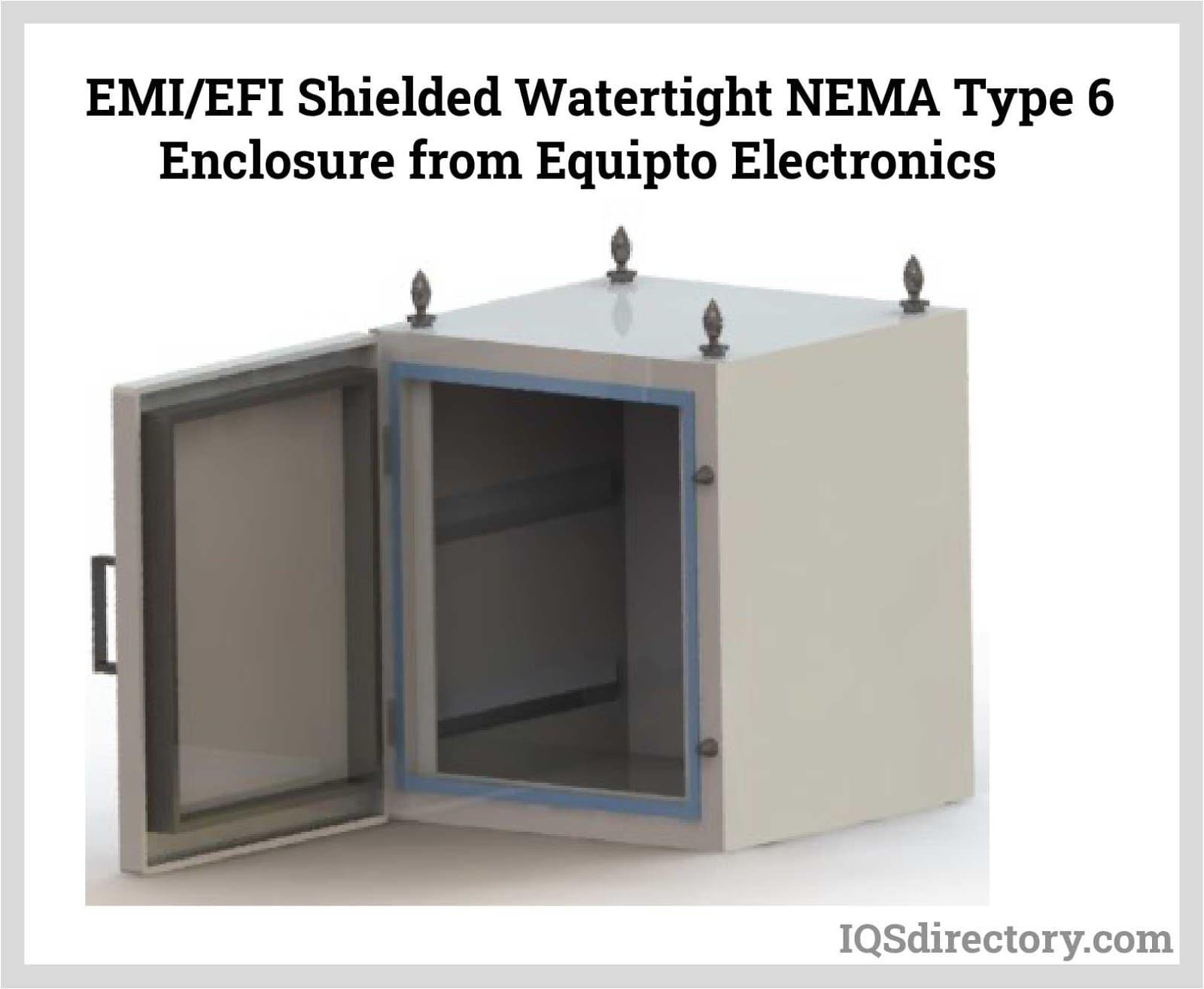 EMI/EFI Shielded Watertight NEMA Type 6 Enclosure
