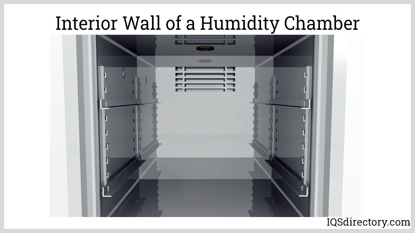 Interior Wall of a Humidity Chamber