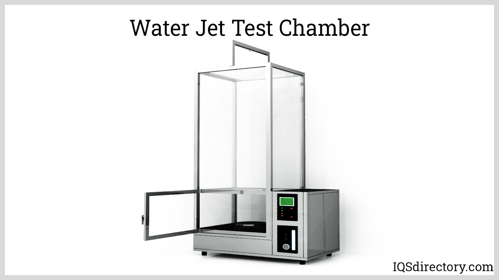 Water Jet Test Chamber