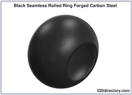 Black Seamless Rolled Ring Forged Carbon Steel