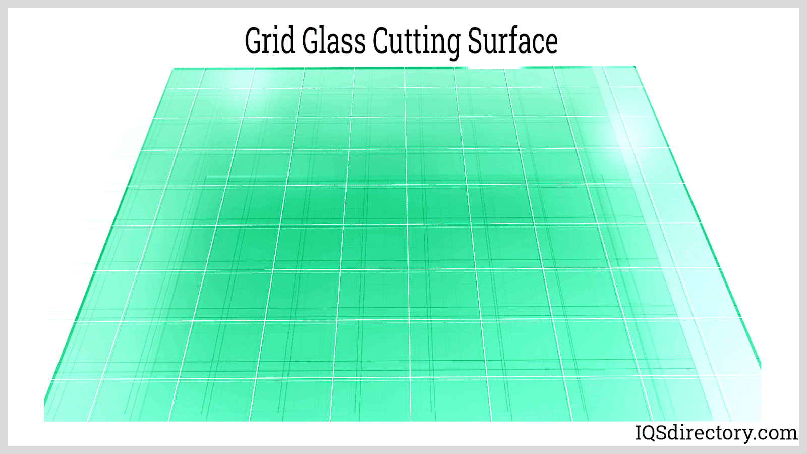 Grid Glass Cutting Surface