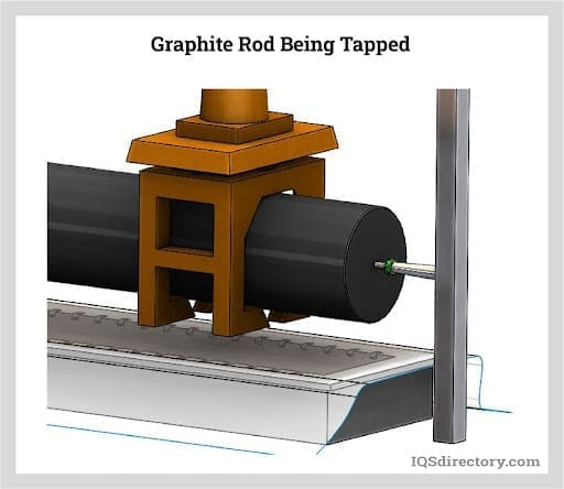 Graphite Rod Being Tapped