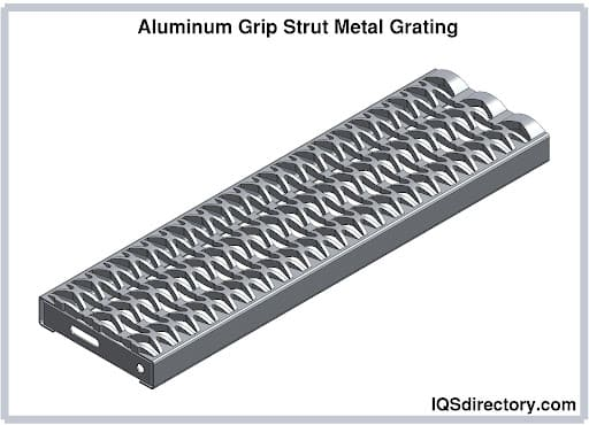 Aluminum Grip Strut Metal Grating