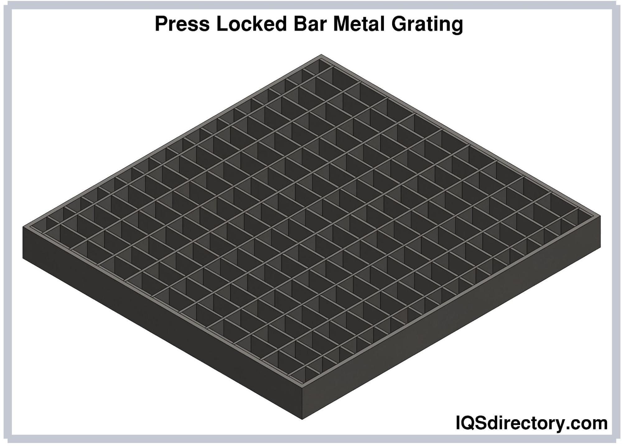 Press Locked Bar Metal Grating