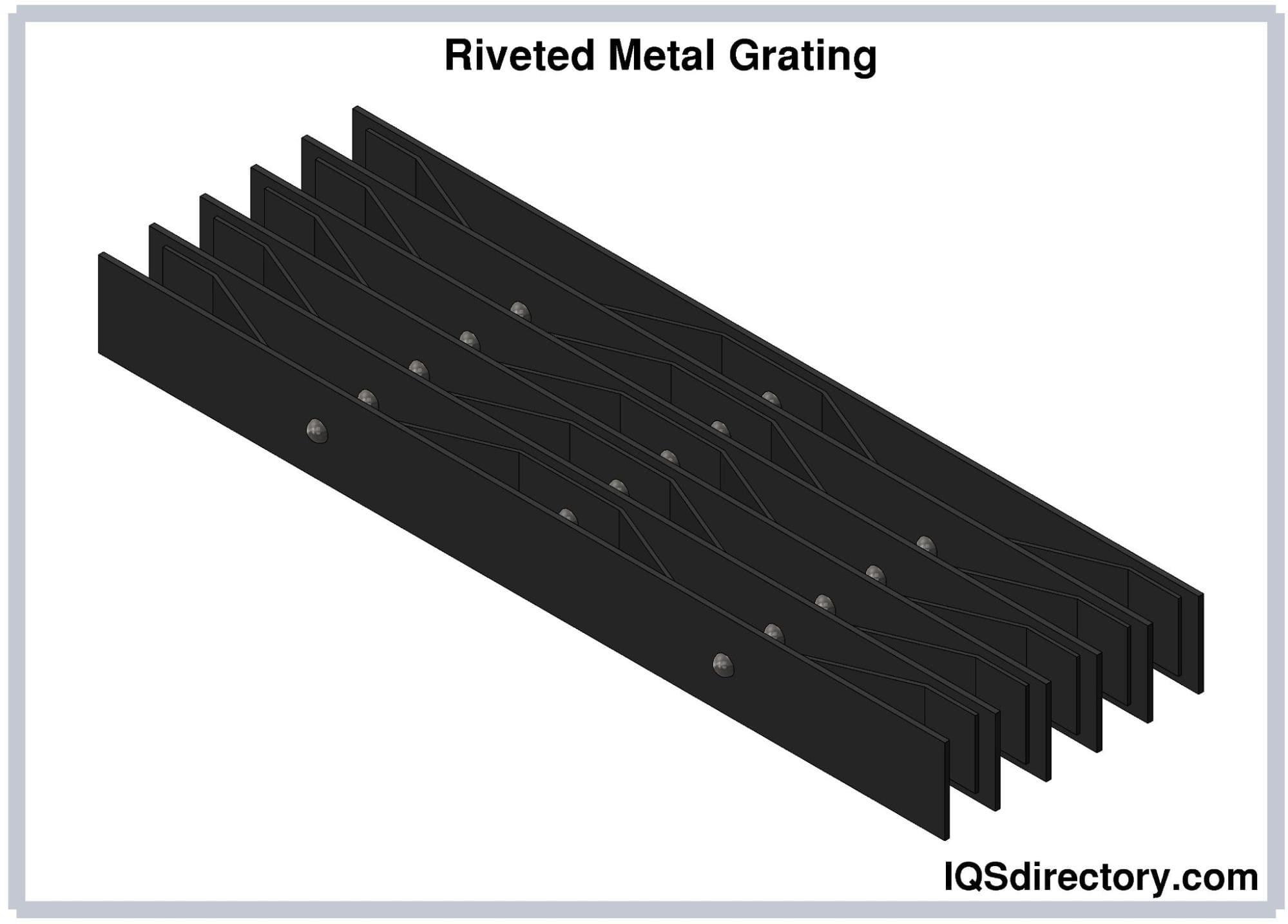 Riveted Metal Grating