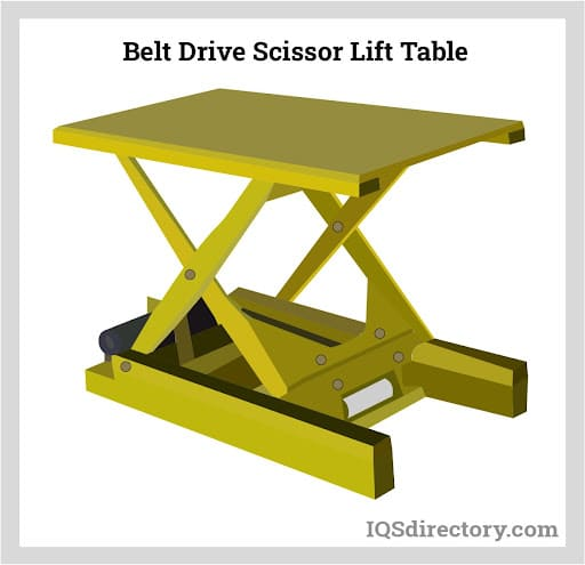 Belt Drive Scissor Lift Table