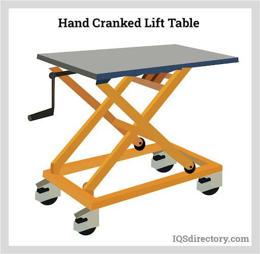 Hand Cranked Lift Table