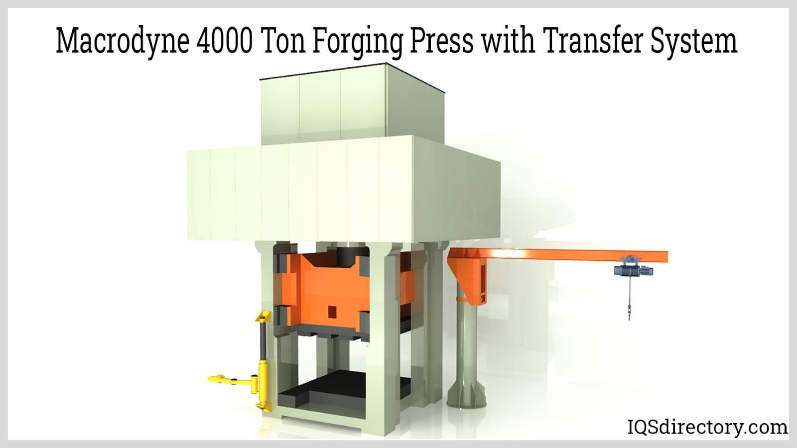 Macrodyne 4000 Ton Forging Press with Transfer System