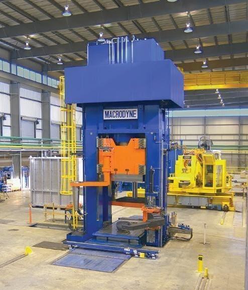 Macrodyne 5500 Ton Ring Blank Hydraulic Forging Press