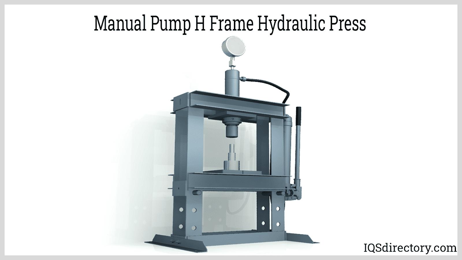 Manual Pump H Frame Hydraulic Press