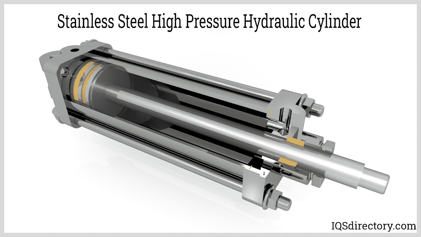 Stainless Steel High Pressure Hydraulic Cylinder