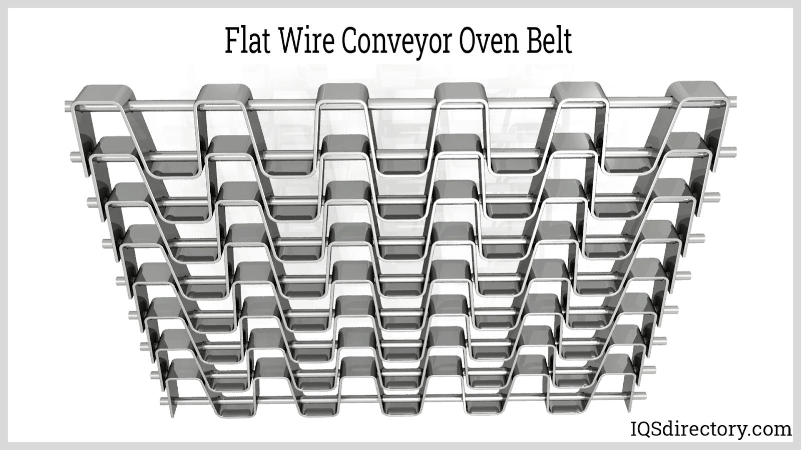 Flat Wire Conveyor Oven Belt