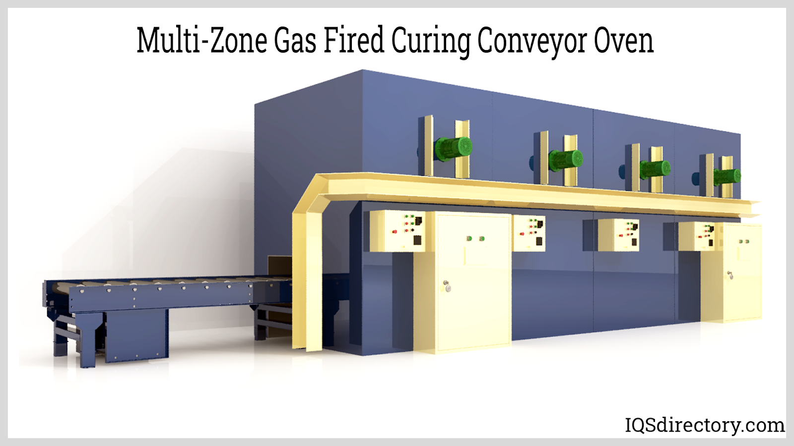 Multi-Zone Gas Fired Curing Conveyor Oven