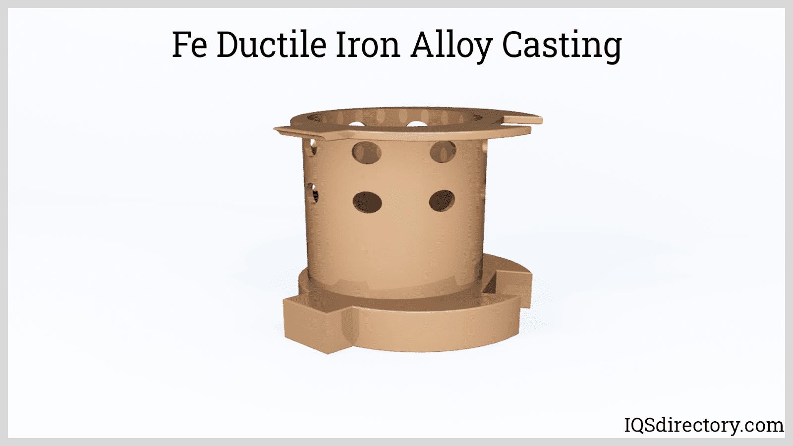 Fe Ductile Iron Alloy Casting