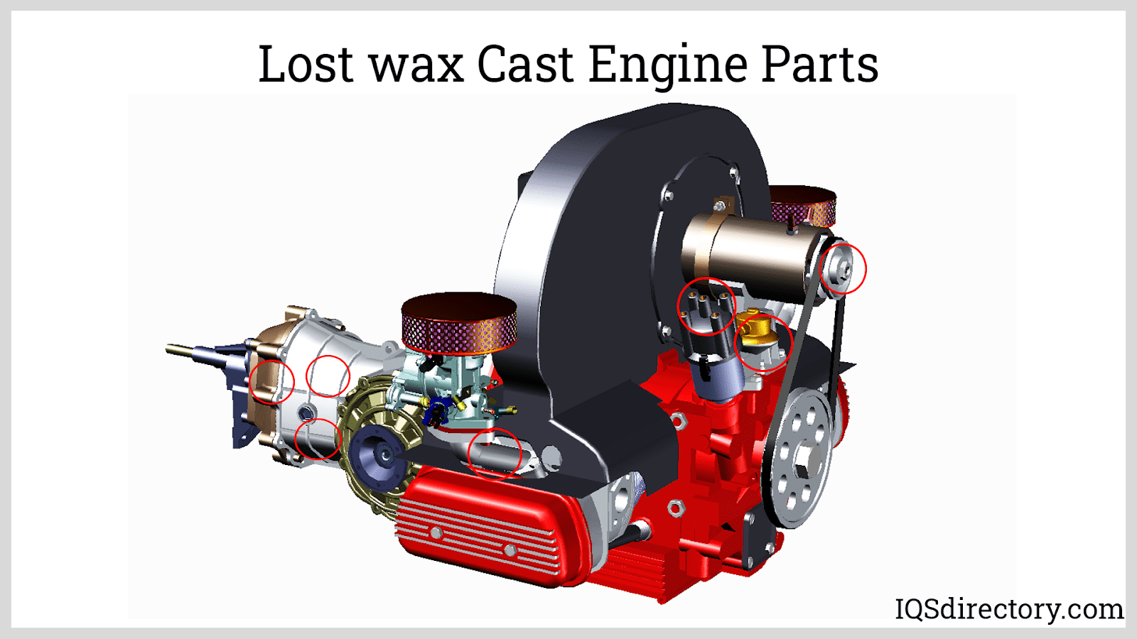 Lost wax Cast Engine Parts
