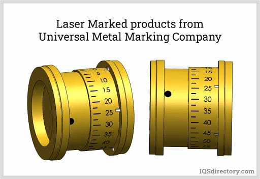 Laser Marked Products from Universal Metal Marking Company